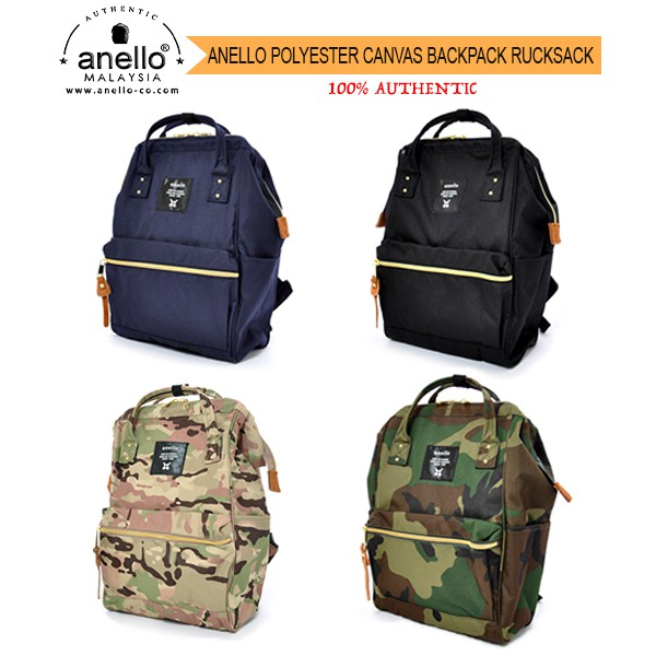721848882ee Anello Polyester Canvas Backpack Rucksack AT-B0193A & AT-B0197B | 100%  Authentic | Shopee Malaysia