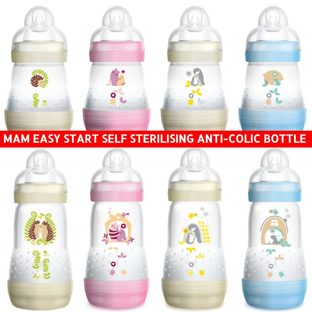 Honey 2 X Mam Anti Colic Bottles 130mls Baby