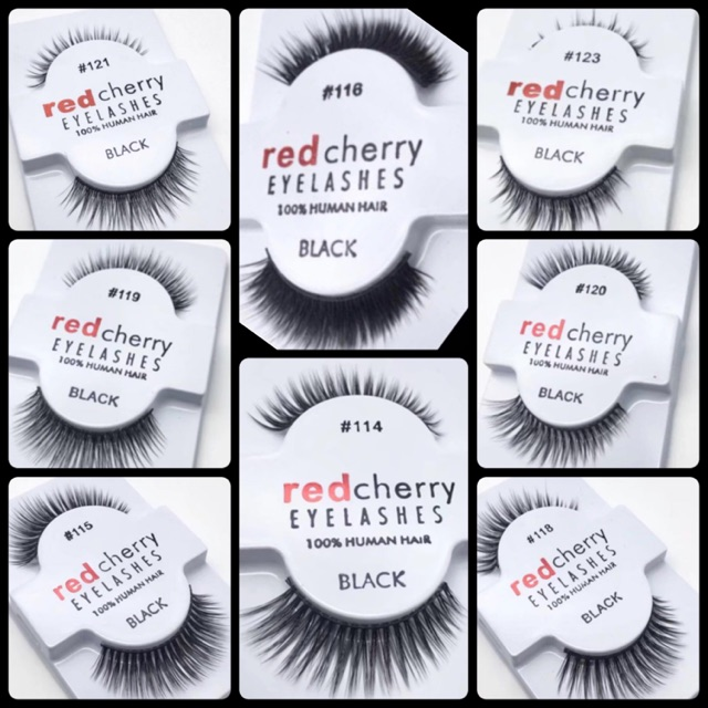 25c7408b0e3 Red Cherry 100% Sterilised Human Hair Eyelashes | Shopee Malaysia