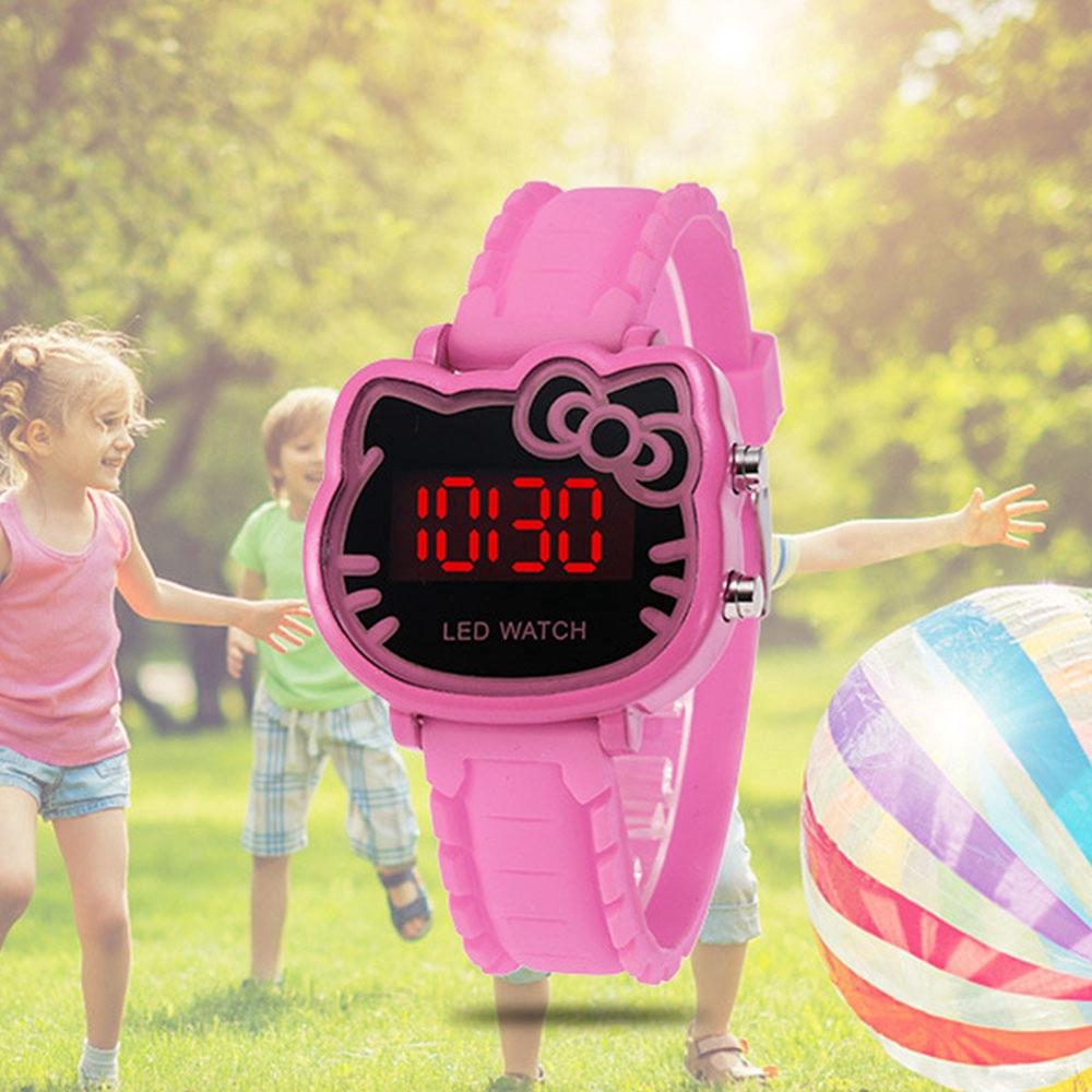 Hello Kitty waterproof Korean Children's led digital watch