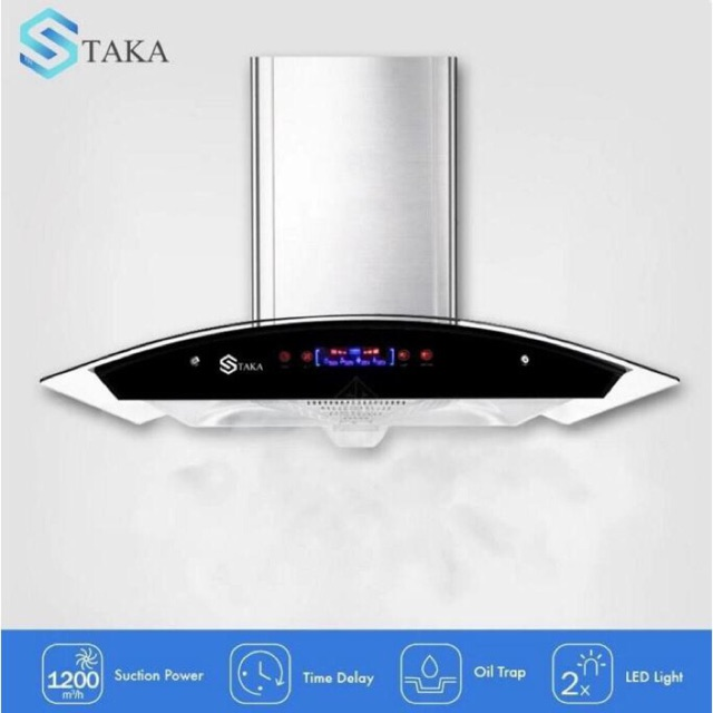 TAKA STAINLESS STEEL & TEMPERED GLASS TOUCH SCREEN KITCHEN HOOD (TK-R103)