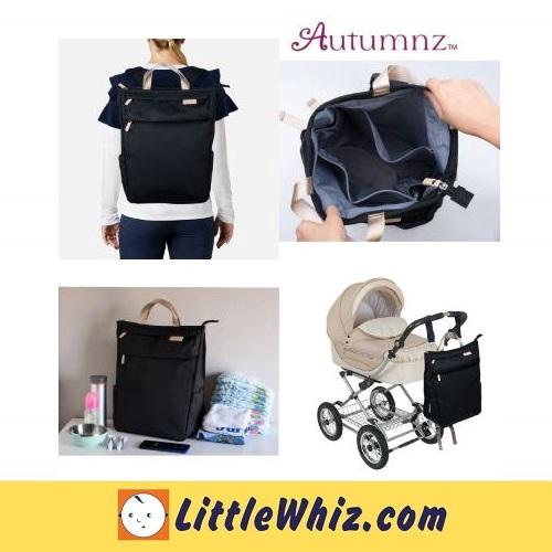 Autumnz: GORGEOUS Diaper Backpack - Black