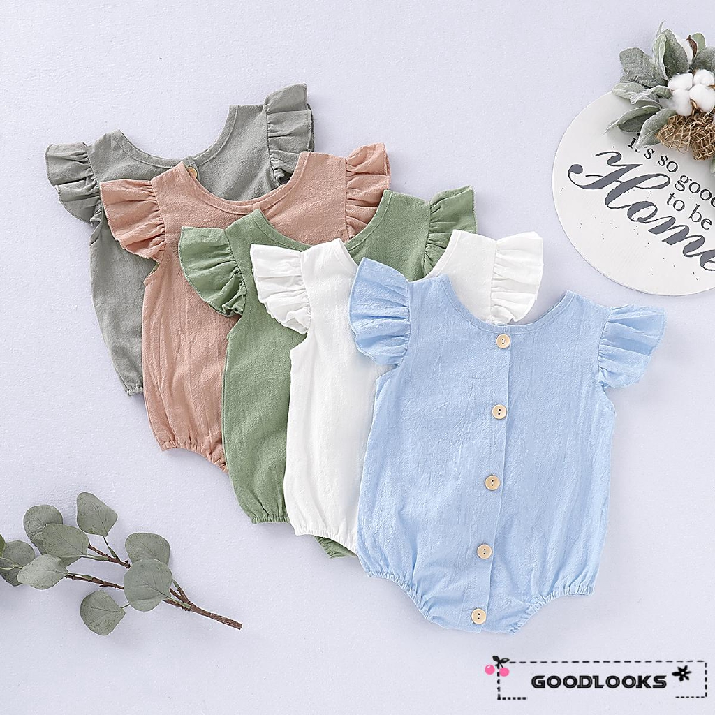 UK Stock Newborn Baby Boy Girl Romper Bodysuit Sunsuit Summer Outfit Set Clothes
