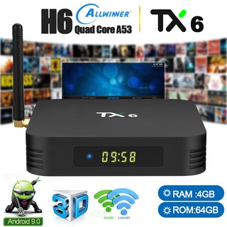 TX6 Android 9 0 TV Box H6 Chip 4GB 64GB Dual Wifi Bluetooth