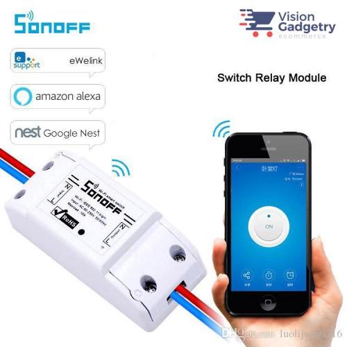 Sonoff Smart Home Wifi Wireless Switch Basic App Control Amazon Google