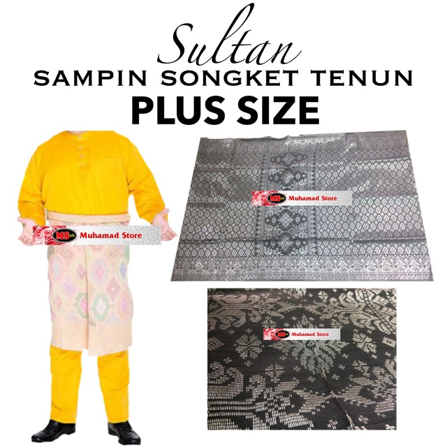 Sultan Sampin Songket Tenun Plus Size