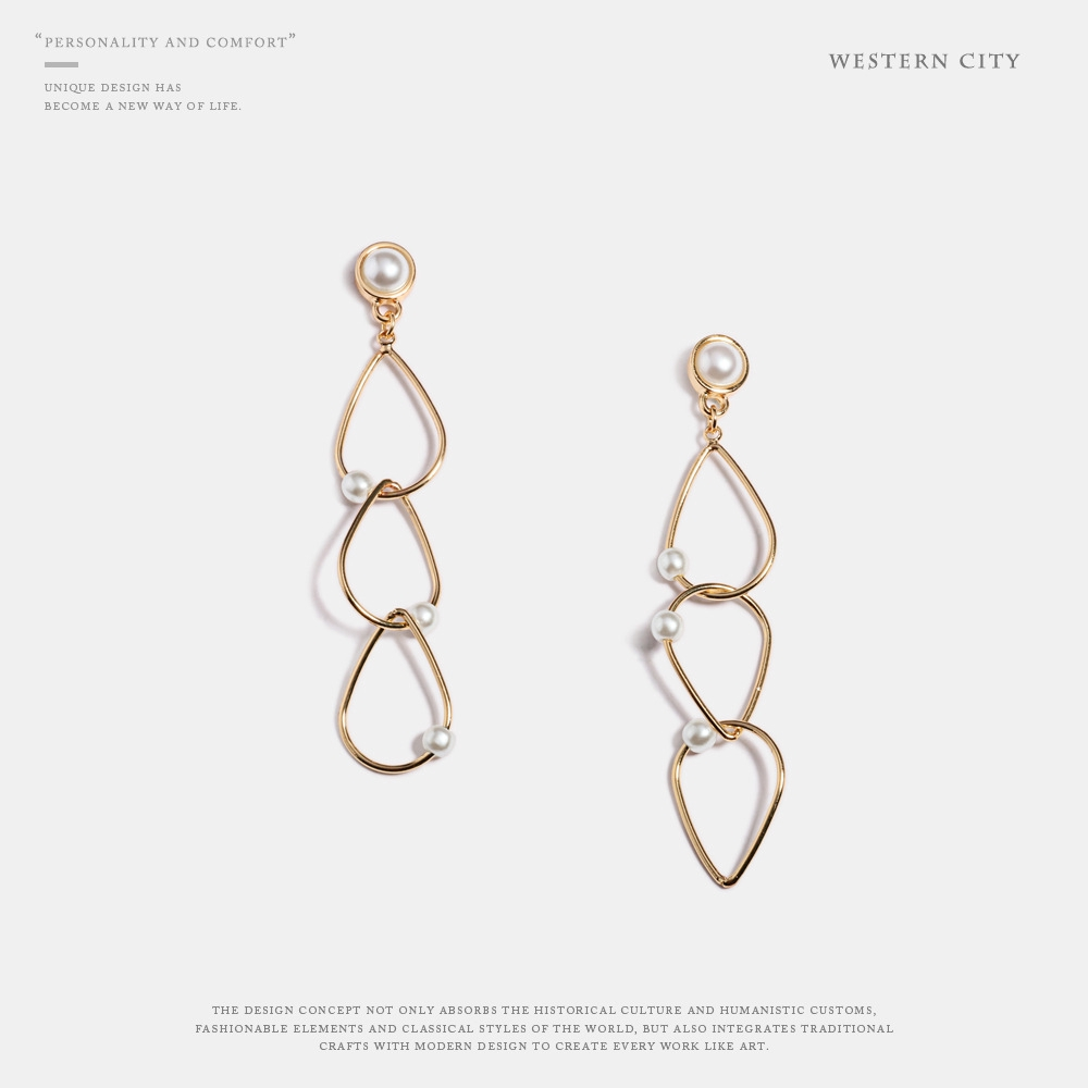 European And American Fashion Exaggerated Jewelry Simple Metal