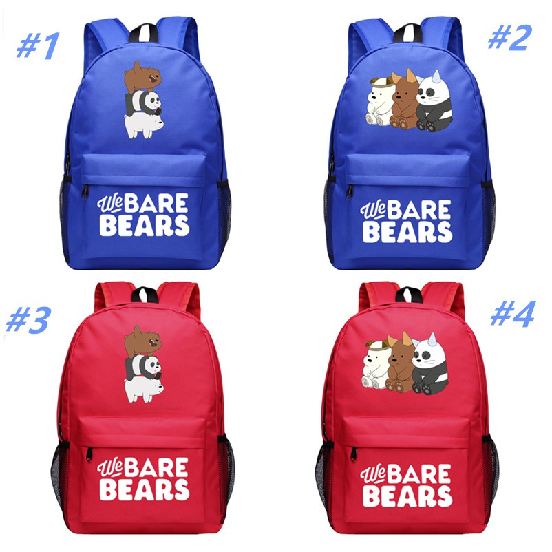 ede379c1e8b93e ProductImage. ProductImage. We Bare Bears Grizzly Panda Ice Bear Backpack  ...