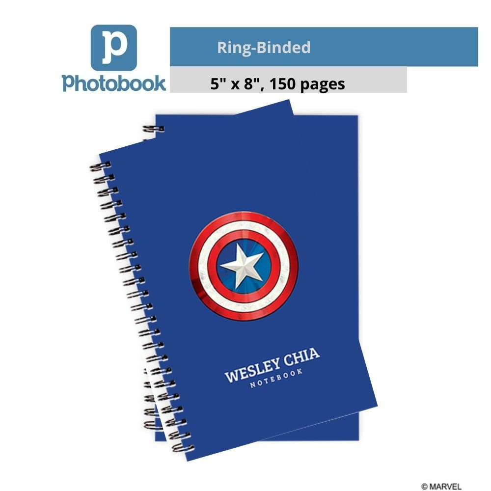 "Photobook Personalized Disney Ring-Binded Notebook (5"" x 8"" x 2 Identical Copies)"