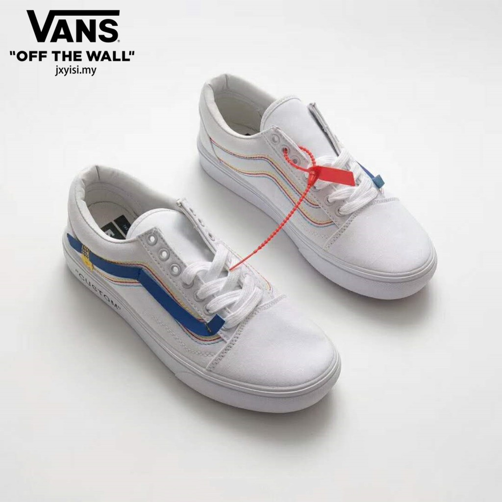 Off-White Vans white Classic Casual sneakers women men shoes Kasut Virgil  Abloh  e4eb312e17de