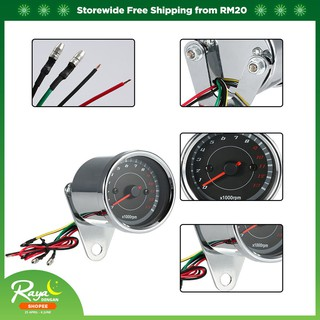 12V Universal Motorcycle Tachometer Meter Backlight RPM for