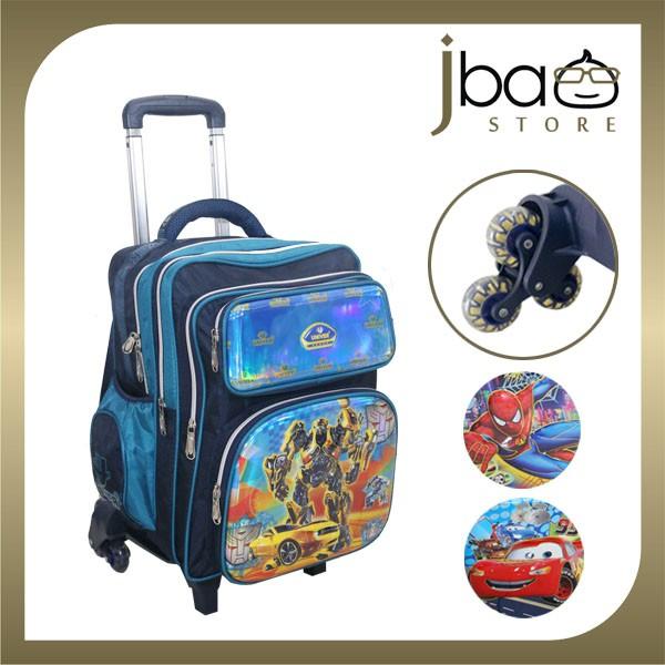 Univer 6 Wheels Trolley School Bag Kid Primary Backpack Bumblebee Spider-man