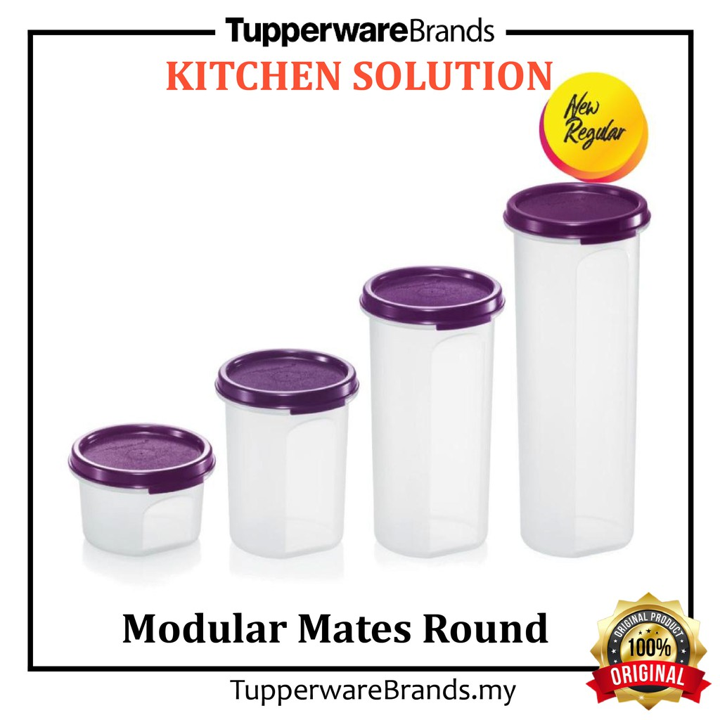 100% Original Tupperware Brands Modular Mates  ROUND 🔥READY STOCK🔥 Dry Food Storage Simpan makanan kering