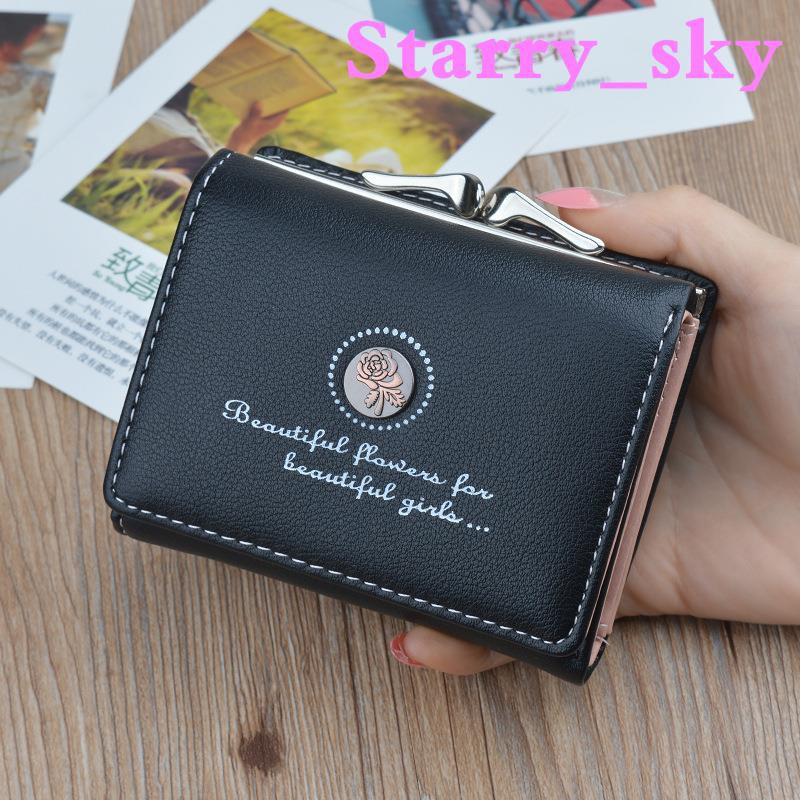 8f393dd324b4 Purse female short paragraph Korean version of the simple student small  wallet f
