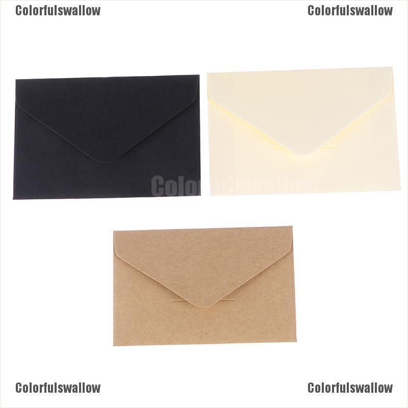 Colorfulswallow 20 Pcs Craft Paper Envelopes Vintage European