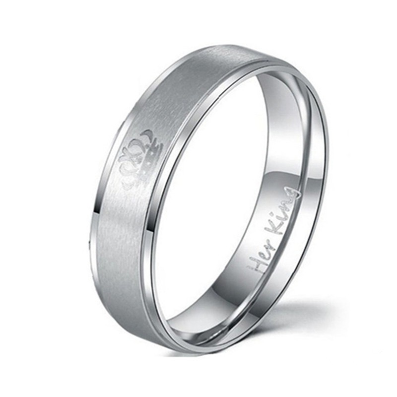 2pcs Couples Rings Fashion Female And Male Wedding Rings Beautiful