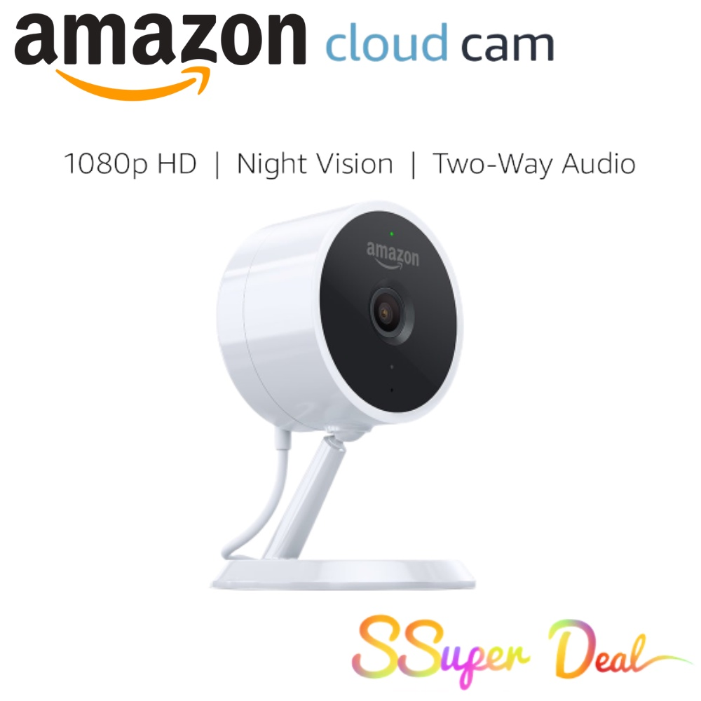 Amazon Cloud Cam Security Camera, Works with Alexa 1080p Full HD