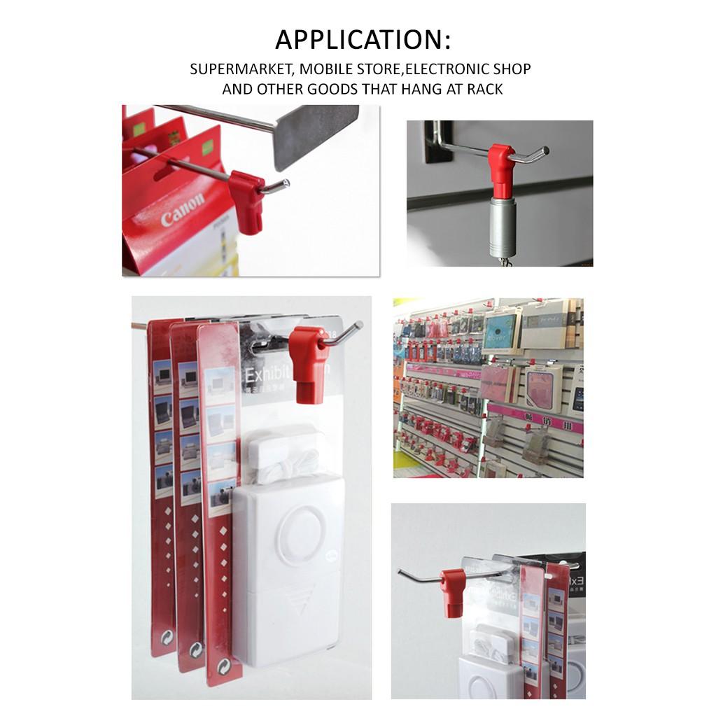 Anti-Theft Security Stop Lock Black 8mm (50units/100units)
