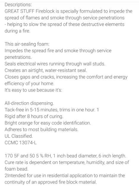 Great Stuff Insulating Foam Sealant Fireblock 340g | Shopee