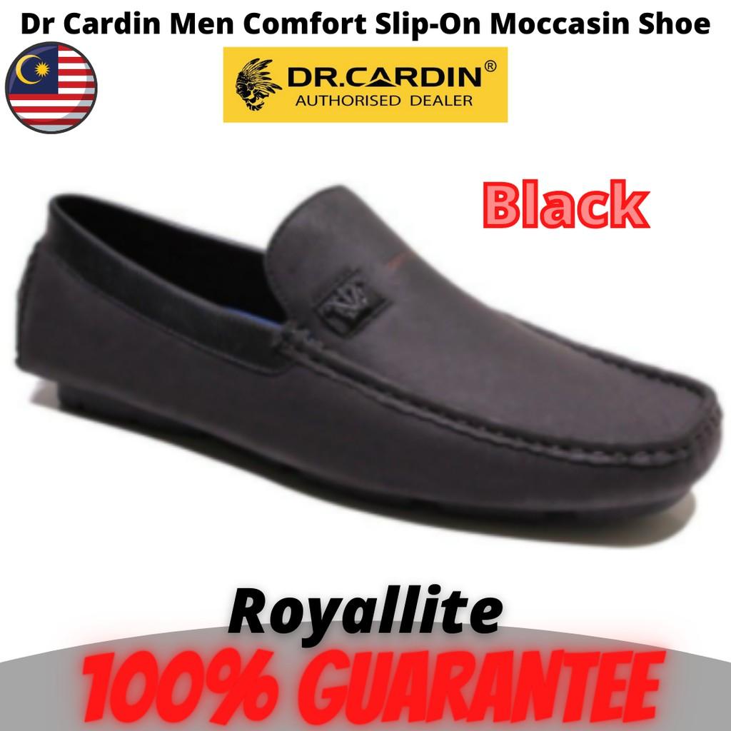 Dr Cardin Men Faux Leather Comfort Slip-On Moccasin Shoe (AMV-60851) DK.Brown & Black