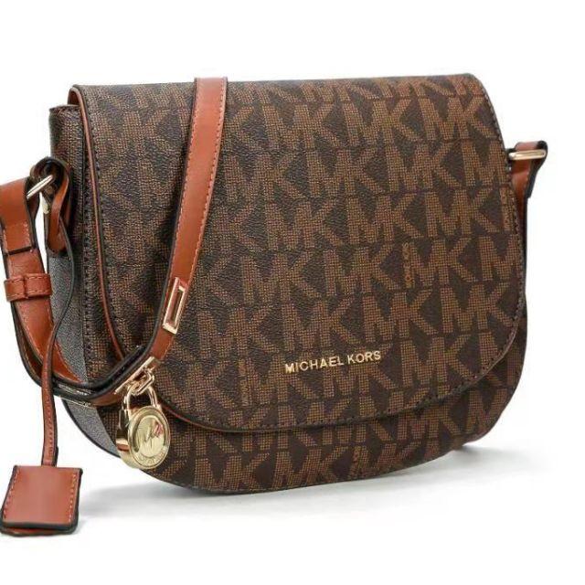 f4c5e675b2bb5 Michael Kors MK Shell Saffiano Effect Bag Sling Handbag