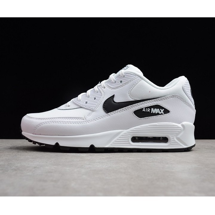 Nike air max 90 original white leather men's and women's sports shoes running shoes 36 45