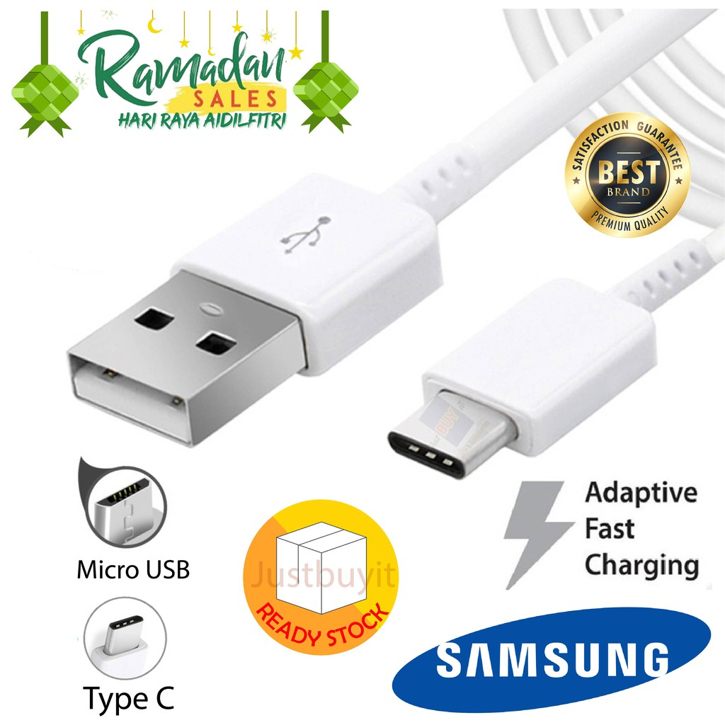 Original Import Samsung Galaxy Super Quick Fast Charging Micro USB TYPE C  Data Sync Cable Charger Plug Adapter