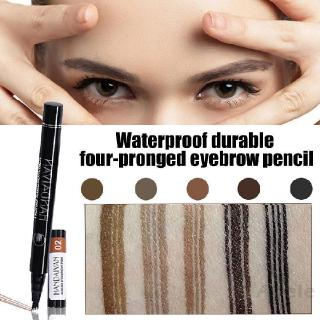 Music Flower Double Head Automatic Rotary Makeup Non-Halo Dye Waterproof  Eyebrow Pencil