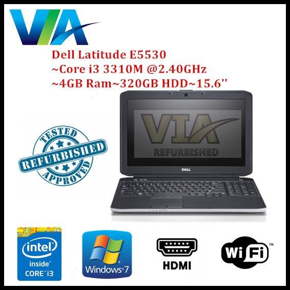 READY STOCK Refurb Dell Latitude E5530 Core i3/4Gb/320Gb/Win7/15 6'