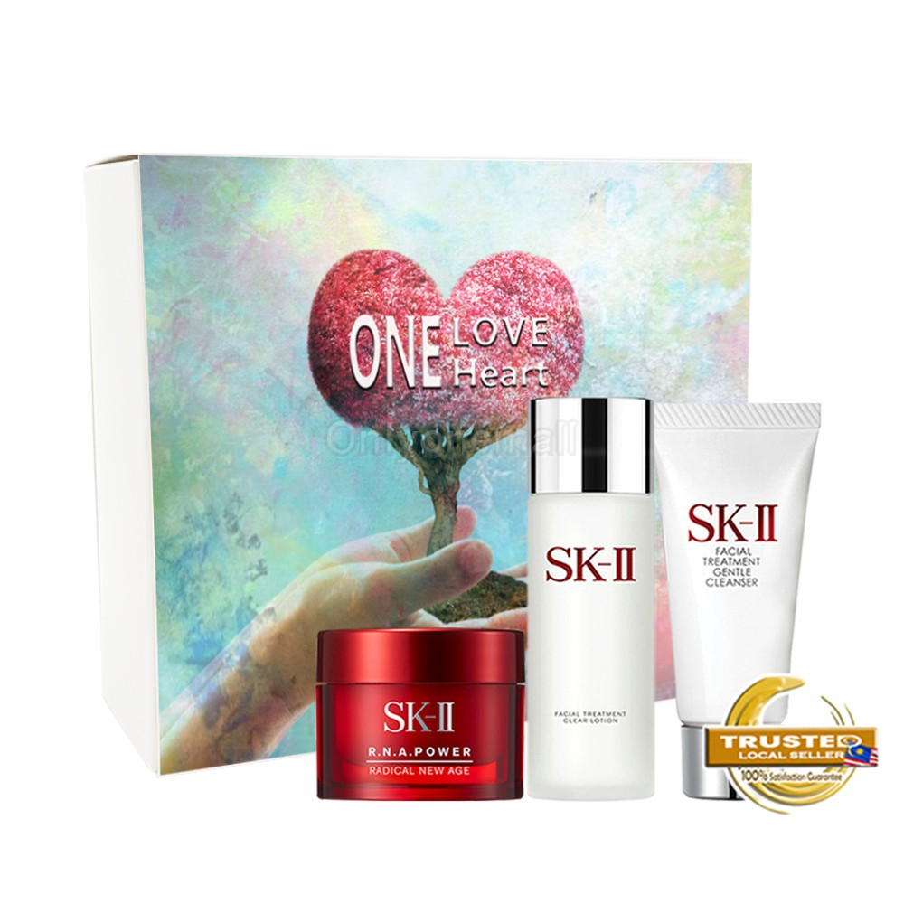 SK-II R.N.A. Power Anti-Aging with cleanser Trial Set 12 (3 items with FREE Mystery Gift)