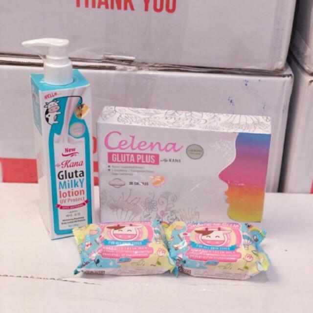 Set C Whitening My Kana ( Celena + Gluta Milky Lotion + Milky Soap 2pcs   Shopee Malaysia