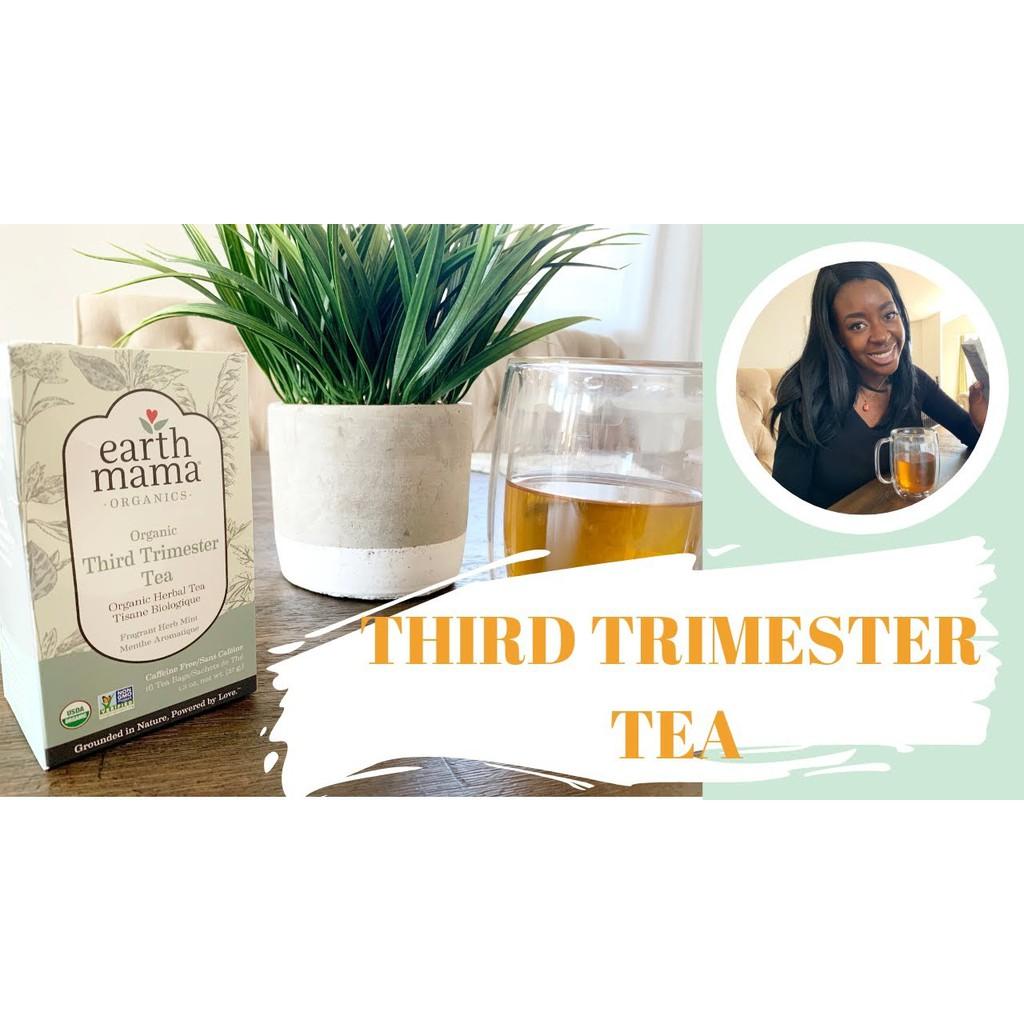 Ready Stock Earth Mama 100% Organic Third Trimester Tea, Fragrant Herb Mint, 16 Tea Bags, 27.2g