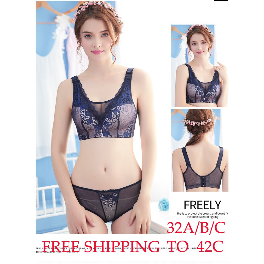 60965fc2746 ❤Ready Stock❤Women Push Up Bra Girl Floral Lace Underwear Underwire  Brassiere