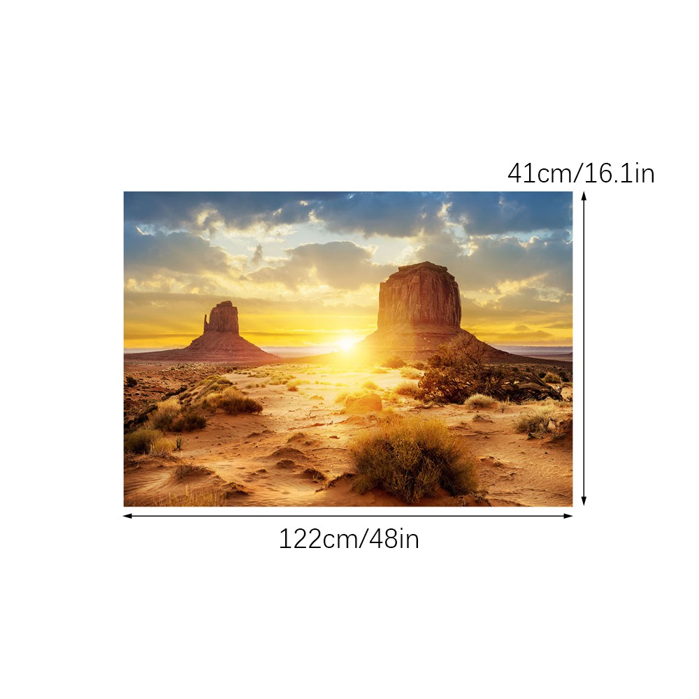 Nannday Fish Tank Background Decorations Pictures PVC Adhesive Aquarium Underwater Sun and Desert Style Backdrop Poster