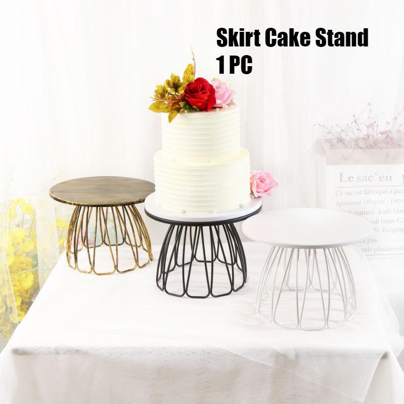 a4da511ef7 Vintage Gold/Black/White Cake Stand Tutu Shaped Geometric Cake Stand  Wedding Birthday Party Cake Cupcake Display Stand