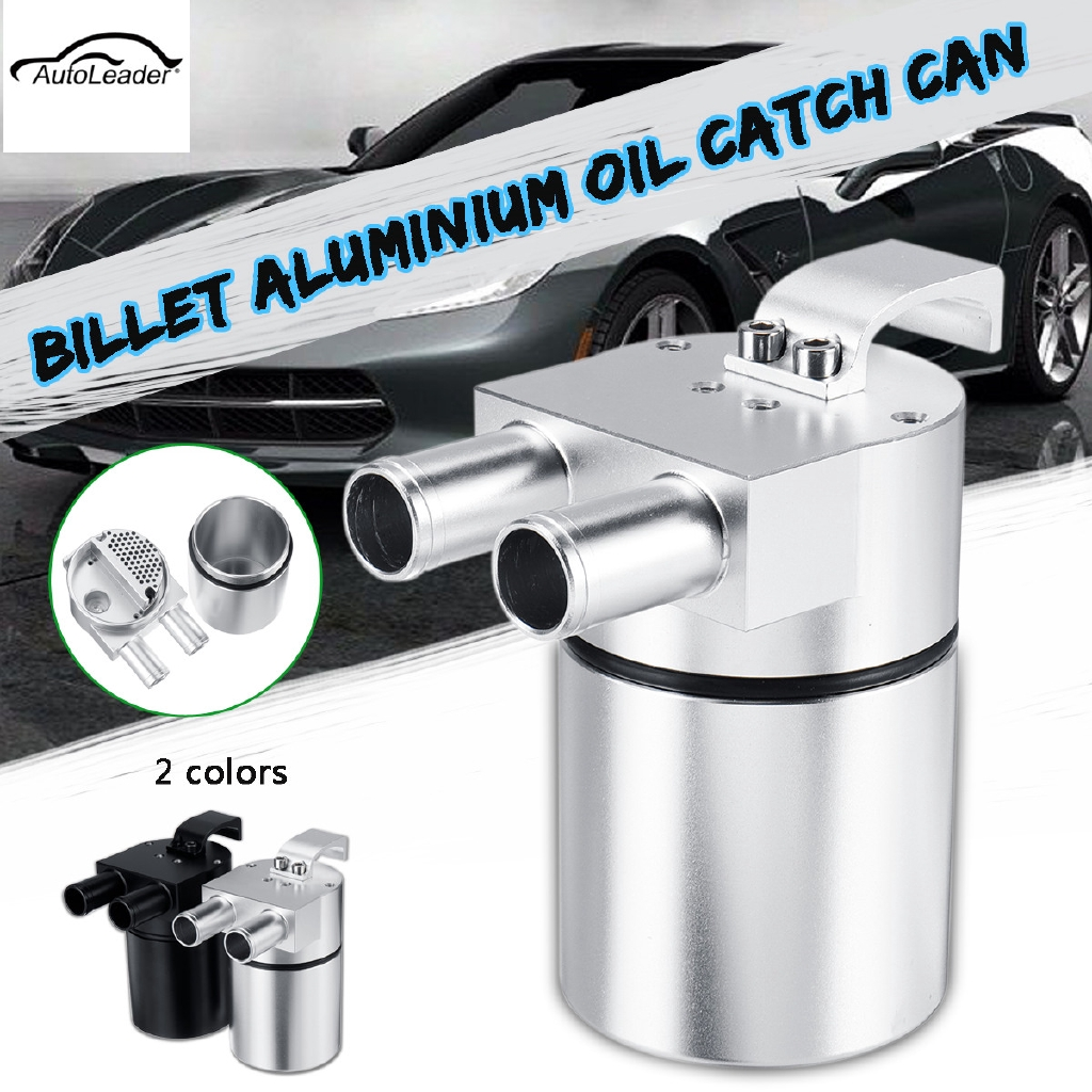 Racing Car Aluminum Reservior Oil Catch Can Tank for BMW 335i 535i Universal