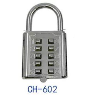 Premium High Quality Padlock CH-602 10 Push numbers Button Combination padlock