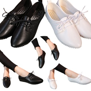 4c30b649db2 Womens Casual Flats Slip On Pointed Toe Loafers Lace Up Ballet Boat Single  Shoes