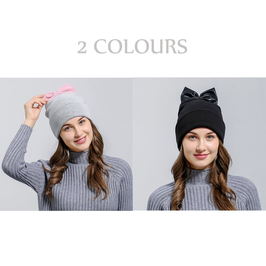 a666da3436b580 Fashion Autumn Winter Hat Lovely Cap Warm Knitted Hat Beanie Women Hat    Shopee Malaysia