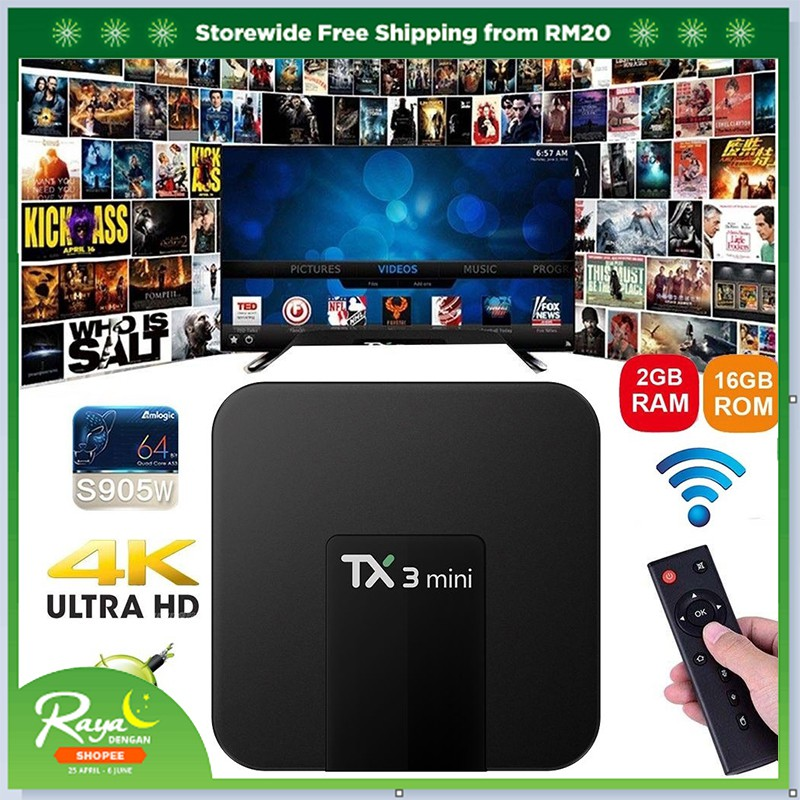 TX3 Mini Smart TV Box Android 7 1 Amlogic S905W Quad Core Set-top Box IPTV  Box