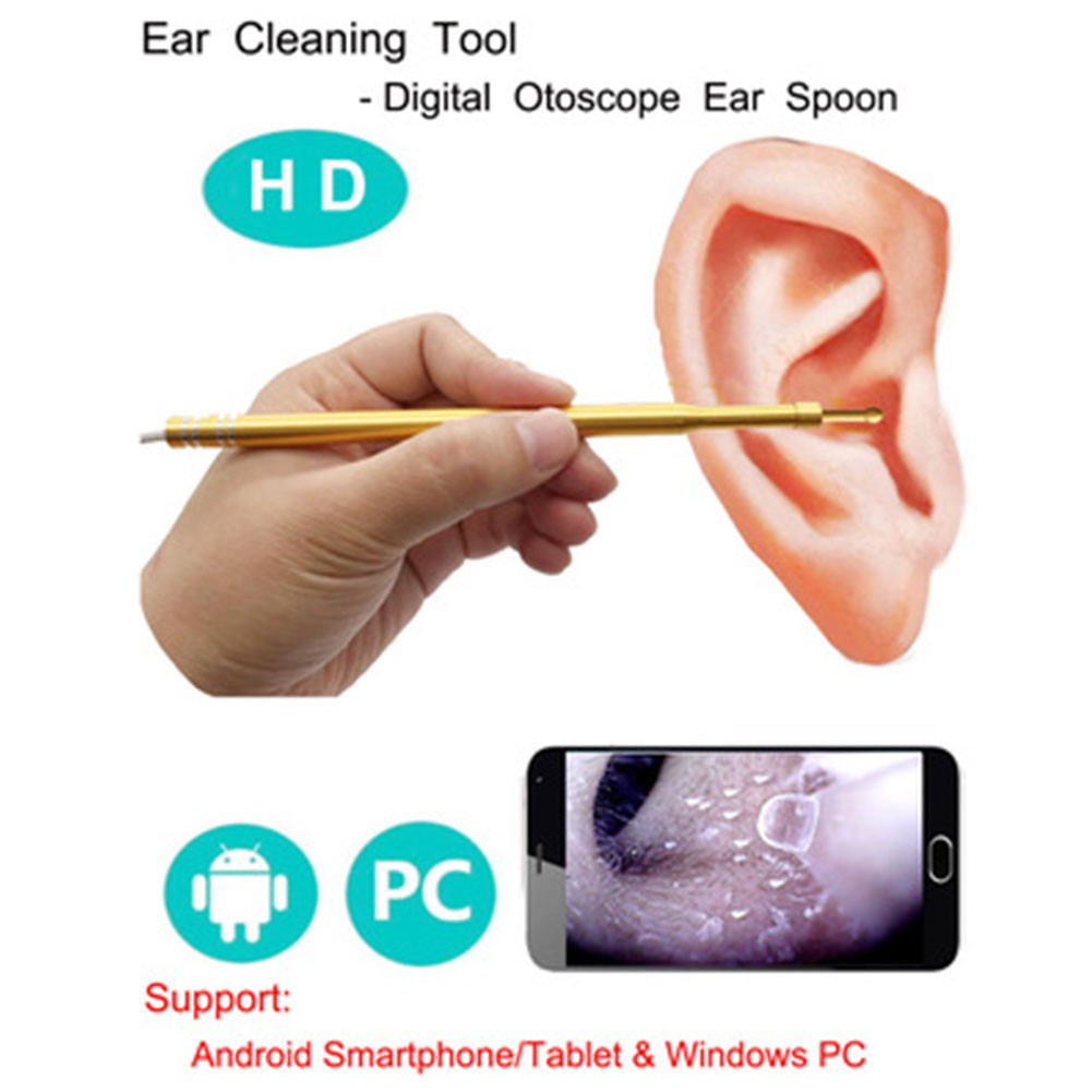3 In 1 Portable Ear Spoon Endoscope Visible Usb Speculum High Definition Usb20 Otoscope Camera Black Shopee Malaysia