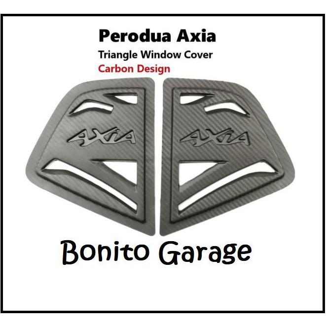 Perodua Axia Rear Side 3d Carbon Window Triangle Mirror Cover Protector
