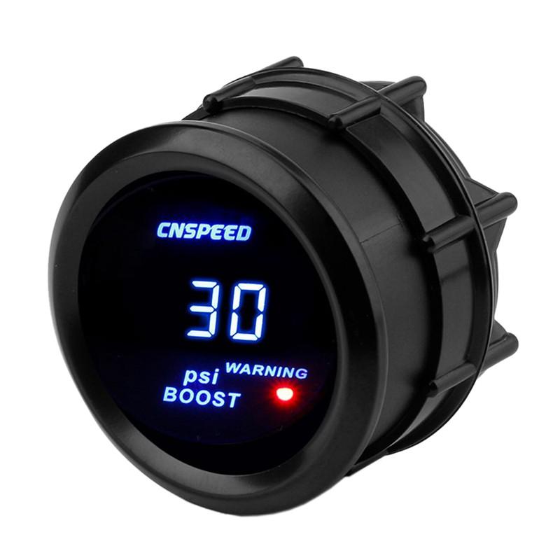 "Water Temperature Gauge Tachometer Meter Blue LED Digital Smoke Lens 2/"" Inch JDM"