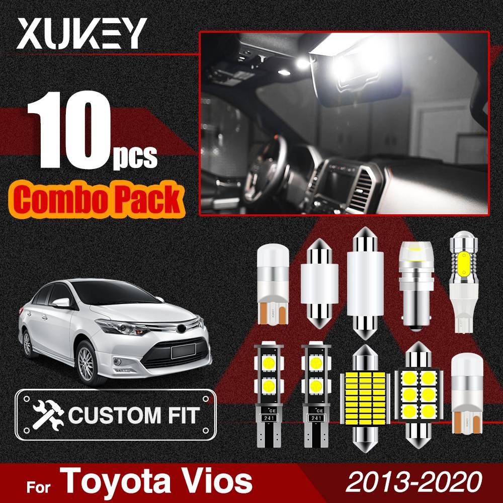 Car Interior Light Kit Led Dome Map Bulbs Side Marker For Toyota Vios 2013 2020 Shopee Malaysia