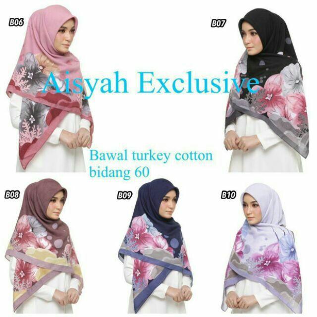 Tudung Bawal Cotton Turkey Bidang 50 55 Borong 5 Helai Shopee Malaysia