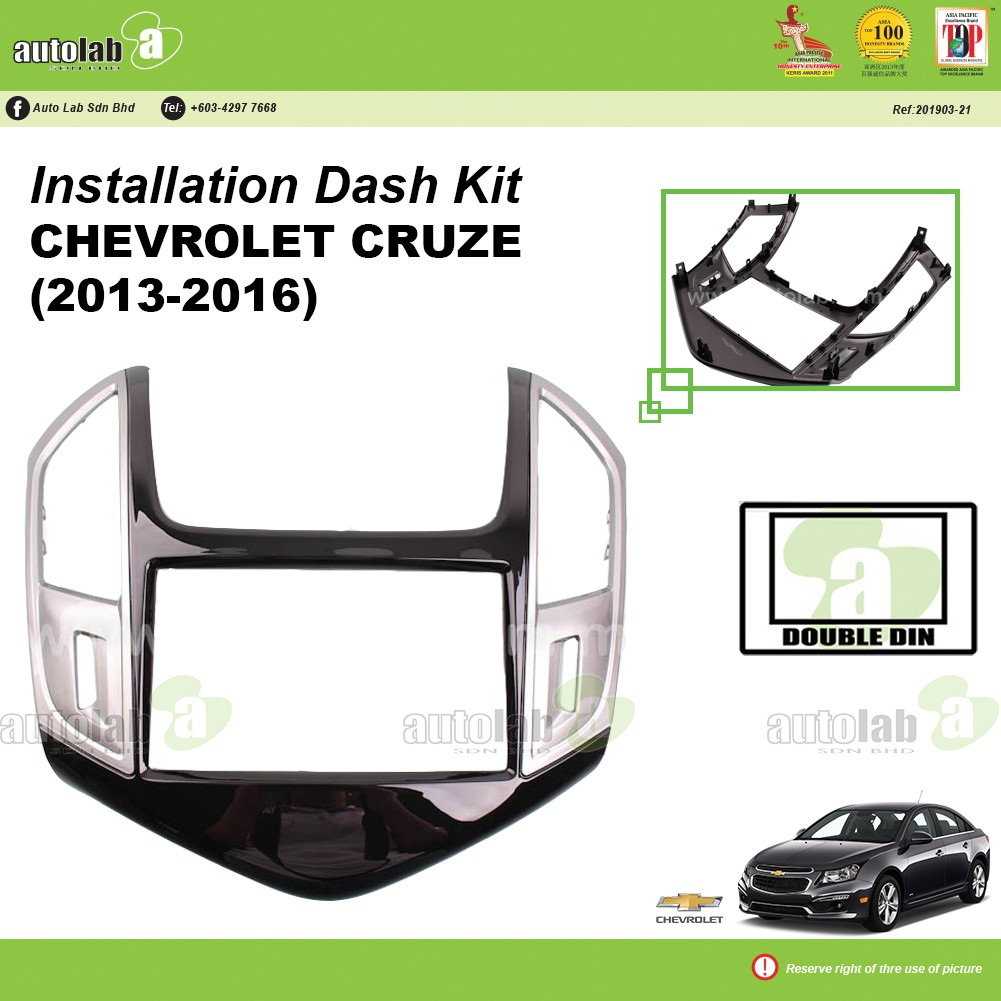 Player Casing Double Din Chevrolet Cruze 2013-2016