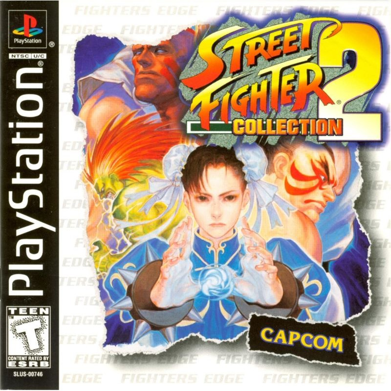 PS1 Game Street Fighter 2 Collection, Fighting Game, Multi 3 in 1 Game, English version / PlayStation 1