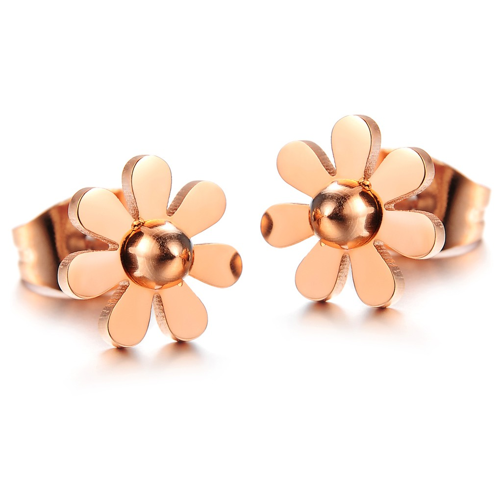 c2bd1b9a4 ProductImage. ProductImage. Accessories Earrings Rose Gold Titanium Steel  Daisy Lady Stud Earrings Fashion