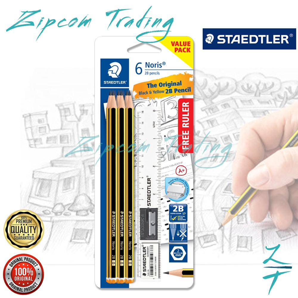STAEDTLER Noris & Norica 2B Pencils Set