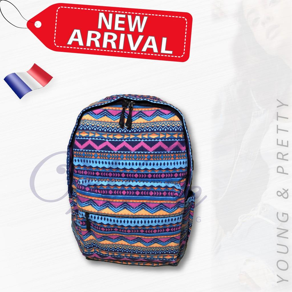 French Designer Fashion Backpack / Stylish Bag / Travel Bag (Design 3)